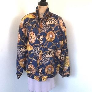 VINTAGE FUDA INTERNATIONAL 100% silk jacket size L